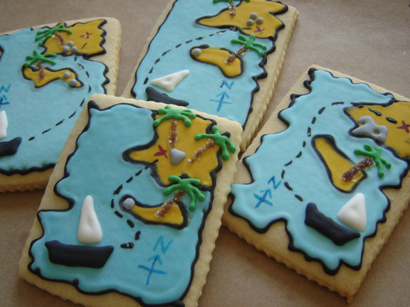Treasure map/Pirate theme - Cookmunk Cookies for any occasions
